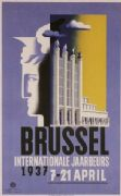 Vintage Belgian poster - Brussel internationale jaarbeurs 1937